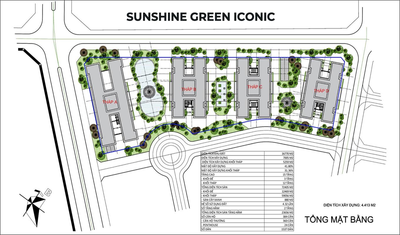 Tổng thể mặt bằng Sunshine Green Iconic